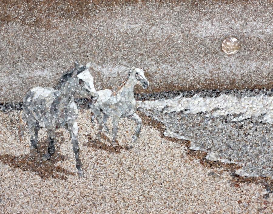Картины из камня и песка