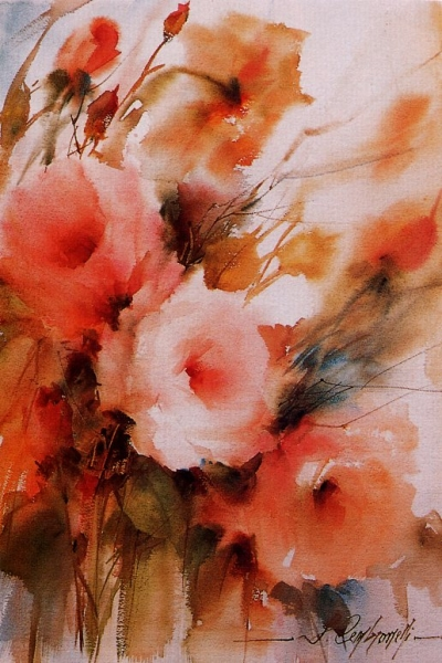 Акварель по сырому мастер класс цветы