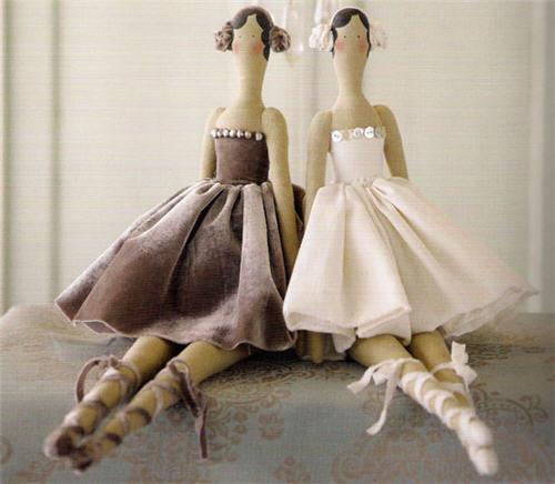 Кукла из ткани тильды